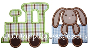 Bunny Train Applique Design