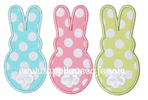 Bunny Trio Applique Design