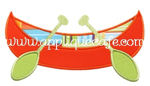 Canoe Applique Design