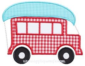 Canoe Wagon Applique Design