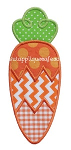 Carrot 2 Applique Design