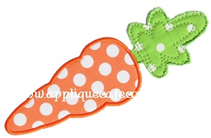 Carrot Applique Design