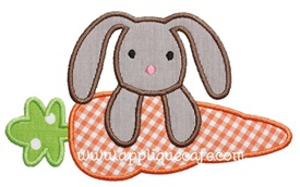 Carrot with Bunny Applique Design