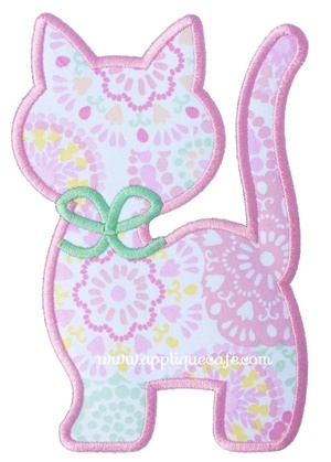 Cat 2 Applique Design