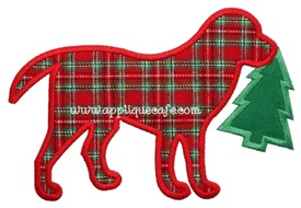 Christmas Dog 3 Applique Design