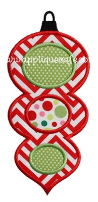 Christmas Ornament 6 Applique Design