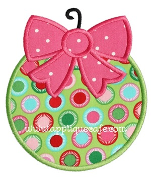 Christmas Ornament 7 Applique Design