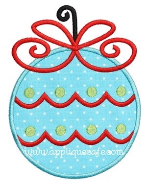 Christmas Ornament 8 Applique Design