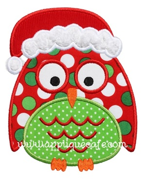 Christmas Owl 2 Applique Design