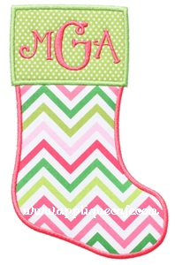 Christmas Stocking 2 Applique Design
