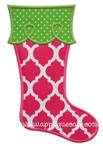 Christmas Stocking 3 Applique Design