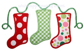 Christmas Stockings Applique Design