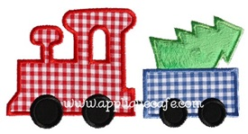Christmas Train Applique Design