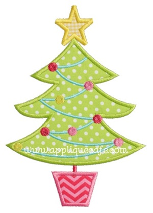 Christmas Tree 12 Applique Design