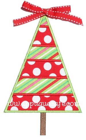 Christmas Tree 3 Applique Design