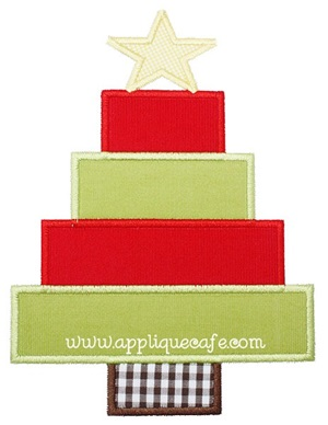 Christmas Tree 5 Applique Design