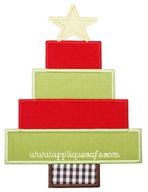 Christmas Tree 5 Applique Design
