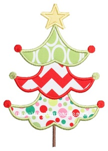 Christmas Tree 9 Applique Design