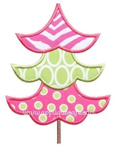 Christmas Tree 10 Applique Design