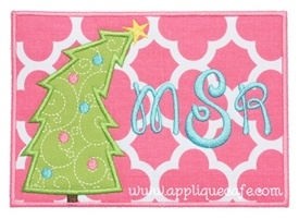 Christmas Tree Patch 2 Applique Design
