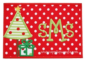 Christmas Tree Patch 3 Applique Design