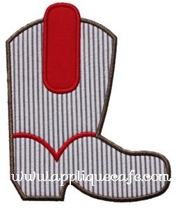 Cowboy Boot 2 Applique Design