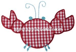 Crabby Crab Applique Design