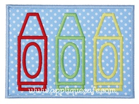 Crayon Patch 2 Applique Design
