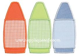 Crayon Trio Applique Design