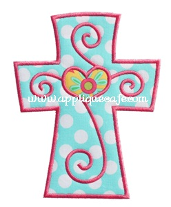 Cross 3 Applique Design