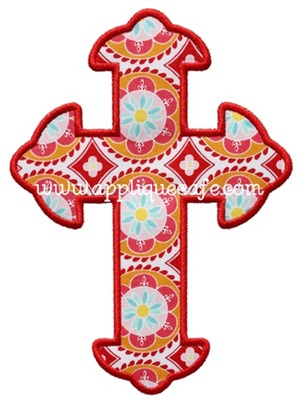 Cross 5 Applique Design
