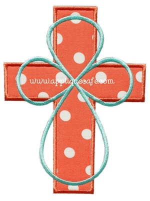 Cross 6 Applique Design