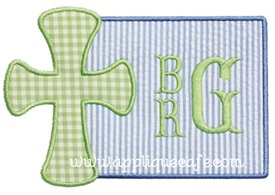 Cross Patch 2 Applique Design