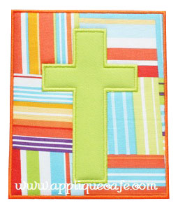 Cross Patch Applique Design