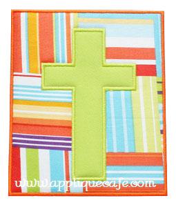 Cross Patch Applique Design