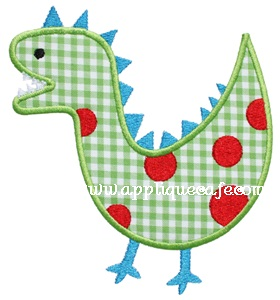 Dinosaur 3 Applique Design