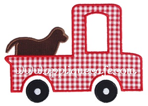 Dog Truck Applique Design