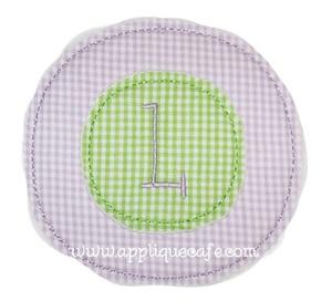 Double Circle Applique Design