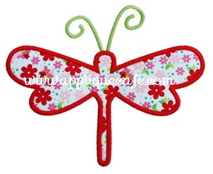 Dragonfly 3 Applique Design