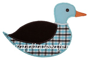 Duck Applique Design