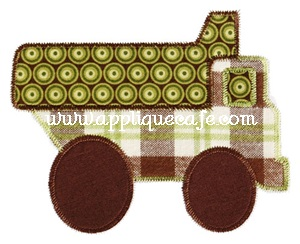 Zig Zag Dump Truck Applique Design
