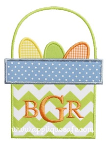 Easter Basket 2 Applique Design