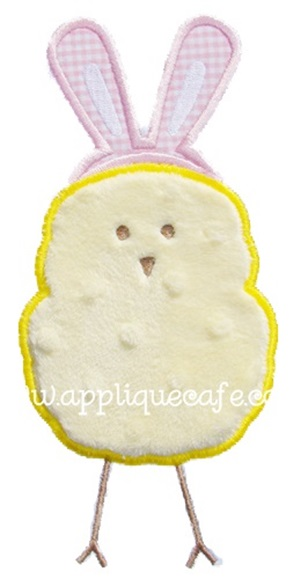 Easter Chick Applique Design