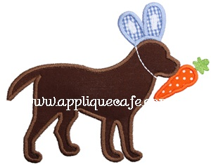 Easter Dog 2 Applique Design