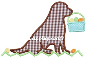 Easter Dog 3 Applique Design