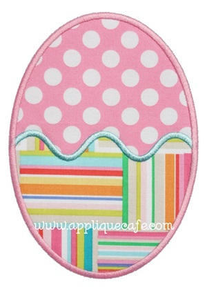 Easter Egg 2 Applique Design