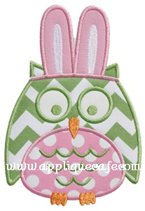 Easter Owl Applique Design