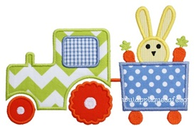 Easter Tractor Applique Design