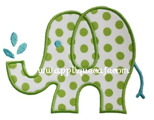 Elephant 2 Applique Design