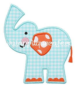 Elephant 3 Applique Design
